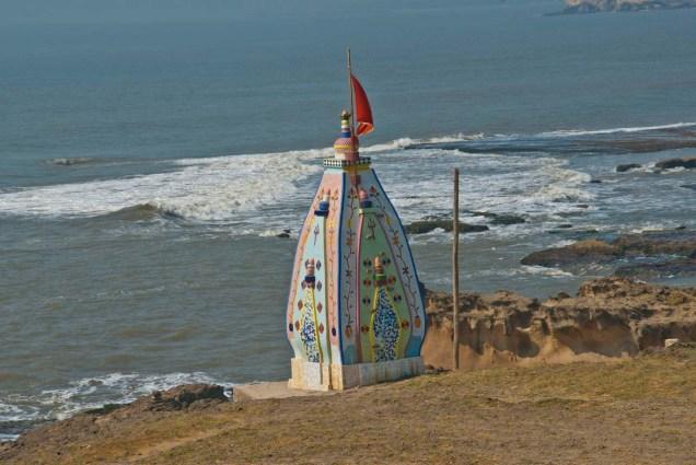 Temple by beach in Diu