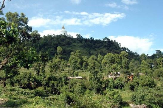 World peace pagoda Pokara Nepal