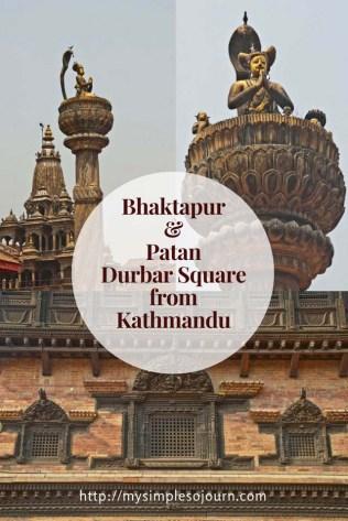 Bhaktapur and Patan Durbar Square from Kathmandu