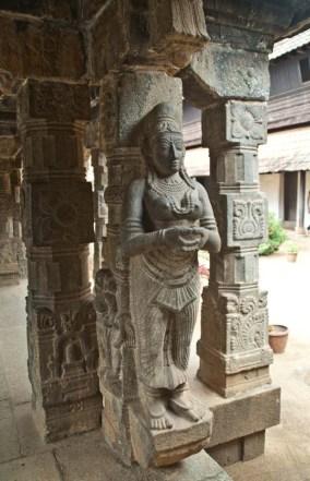 Padmanabhapuram Palace stone pillars of King's Council Hall