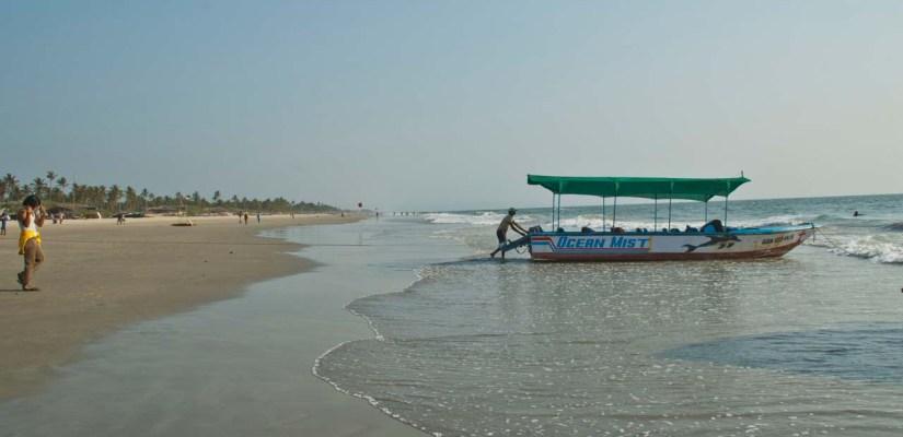Boat at Colva beach Goa