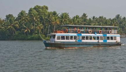 Boat in Kerala Backwaters from Alleppy to Kollam