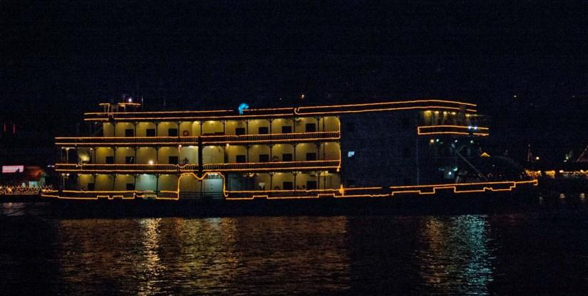 Boat in Mandovi River Goa