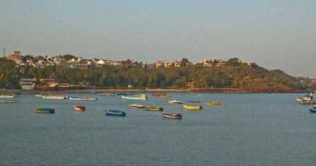 Boats at Dona Paula Goa
