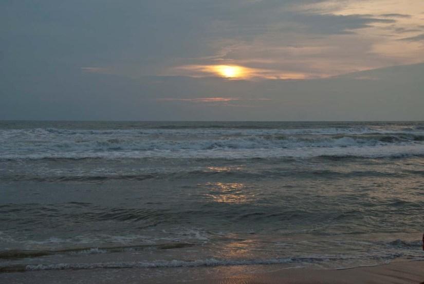 Calengute beach sunset