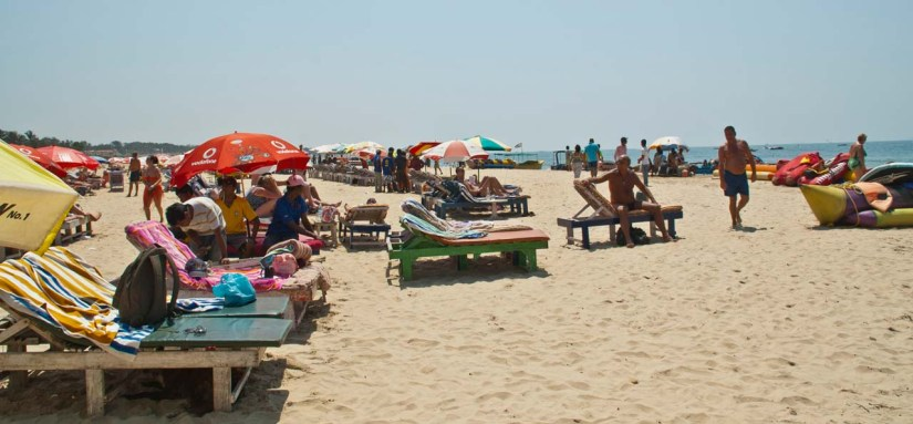 Chairs for relaxing Beach in Goa