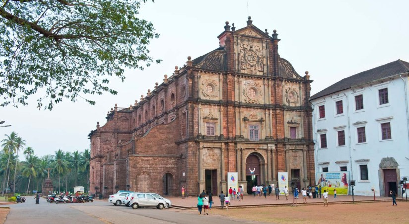 Exterior of Bom Jesus basilica Goa