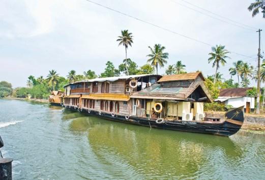 Houseboat in Kerala Backwaters