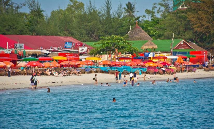 People at Serendipity beach Cambodia