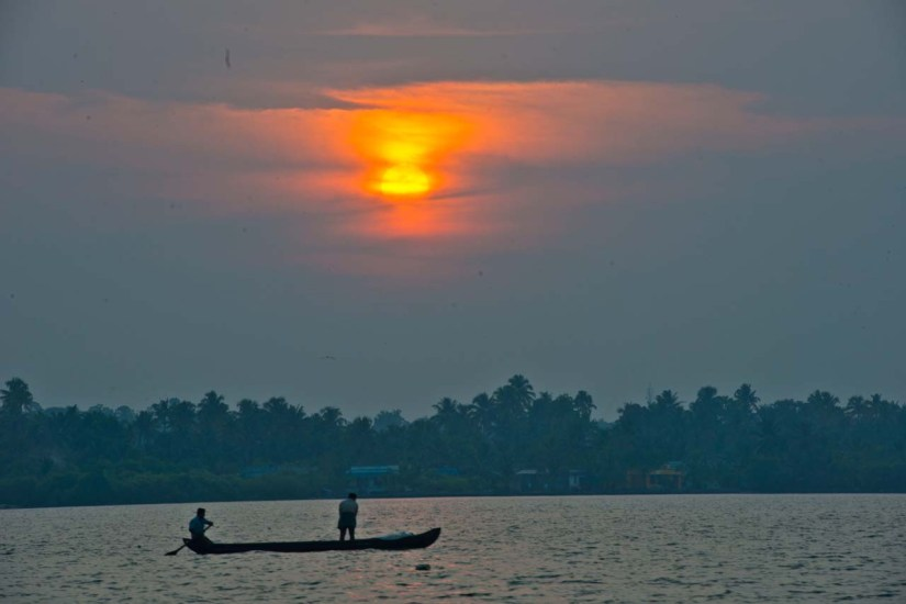 Sunset in the Kerala Backwaters