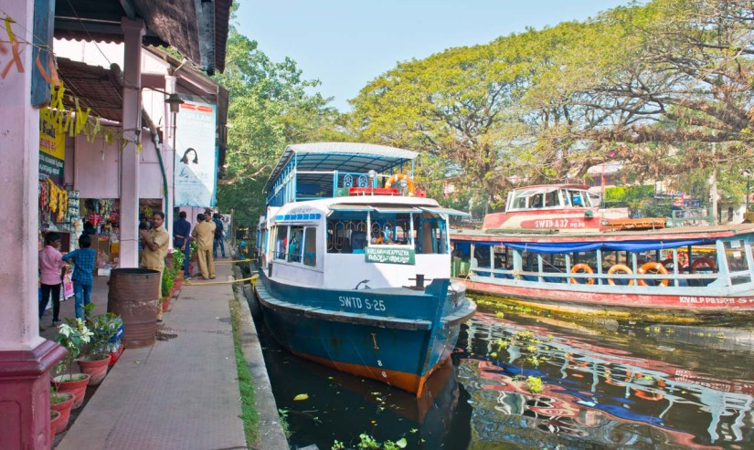 Tourist Boat in Kerala Backwaters at Alleppey