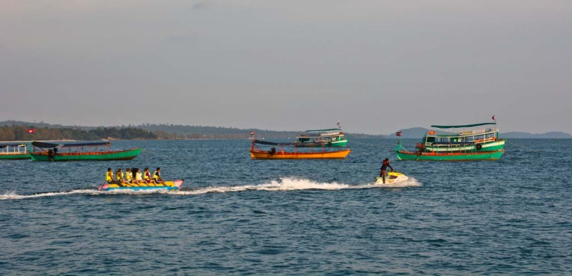 Watersports at Serendipity beach Cambodia