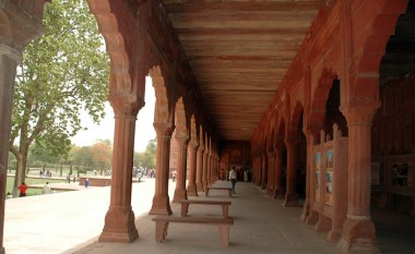 Corridors in Taj Mahal Compound