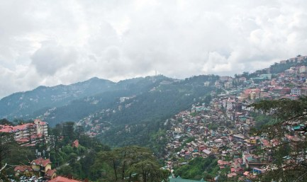 View from Mall road shimla