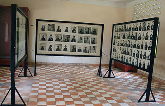Photographs of victims Tuol sleng Museum