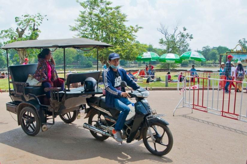 Tuk Tuk in Angkor, Siem Reap Cambodia