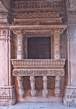 Adalaj ki Vav windows on first floor