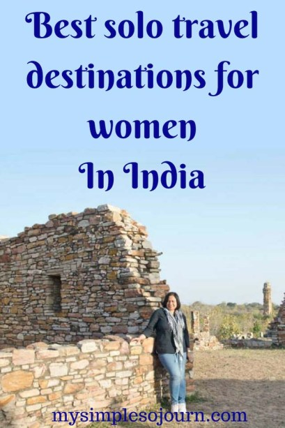 Best places for a female traveling solo in India #solotravel #travel #india #destinations #traveltips #incredibleindia #travelalone #Female #womentravel #safetravel
