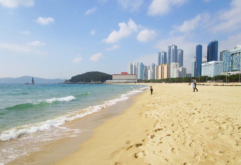 Haeundae Beach, Busan in South Korea
