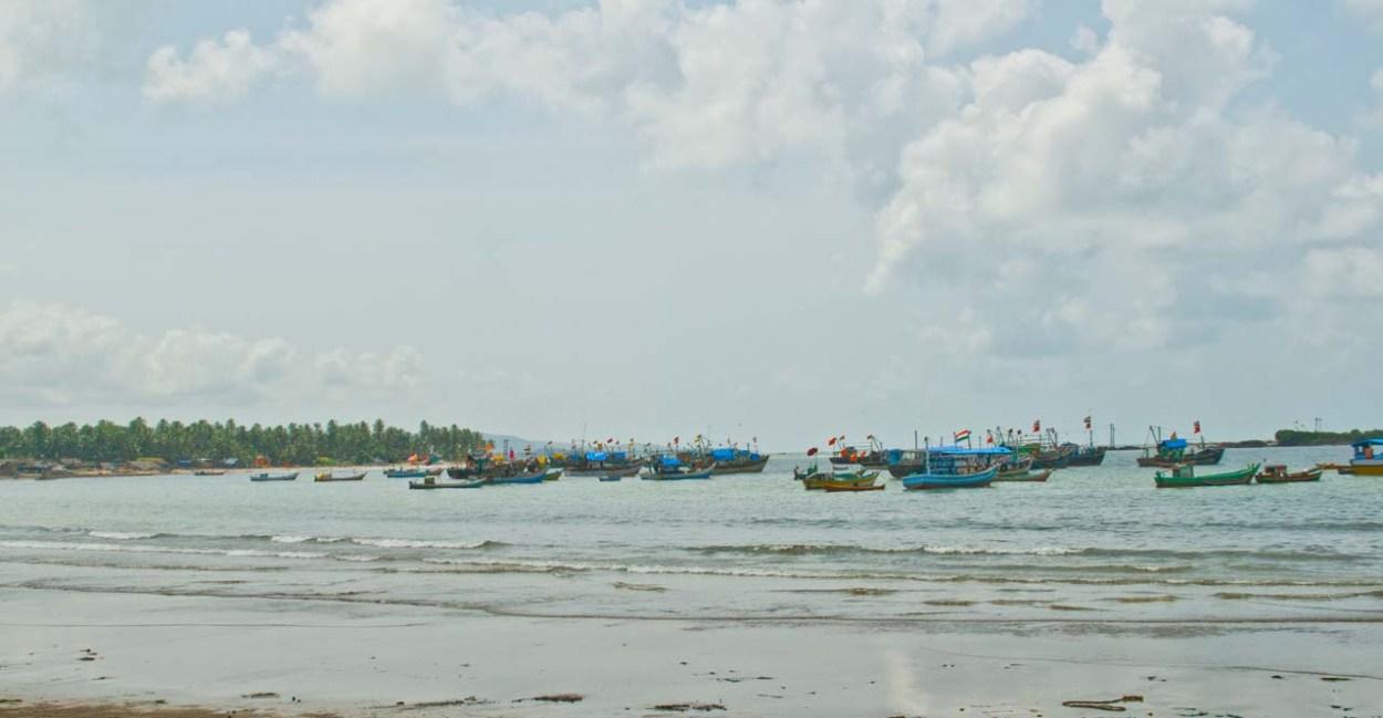 Boats in Malvan sea