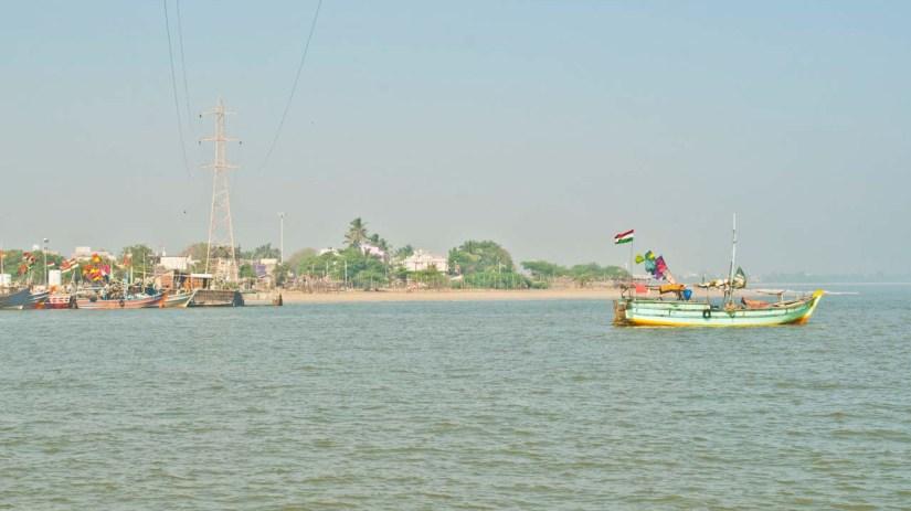 Sea, beach and boat, Somnath