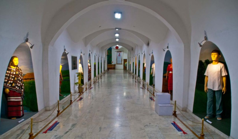 Corridor of Don bosco museum shillong