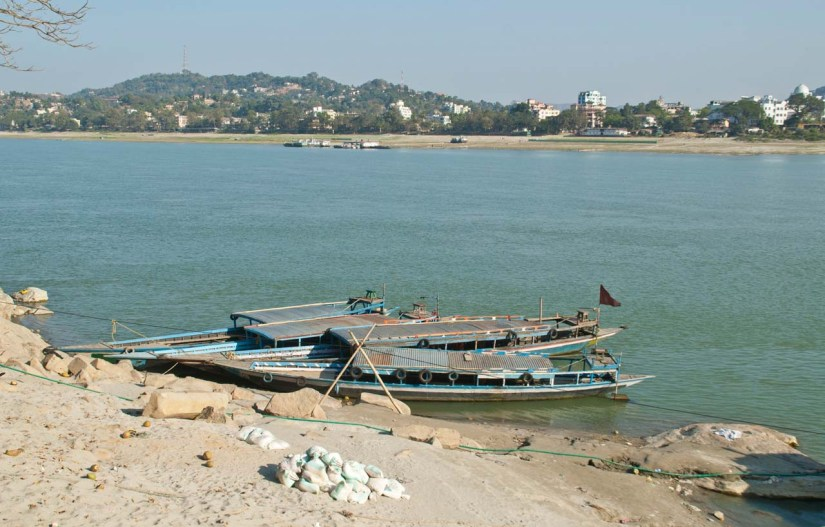 Umananda Temple boat jetty in Bhramaputra river Guwahati
