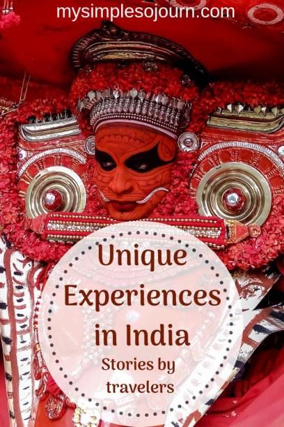 Unique experiences in India