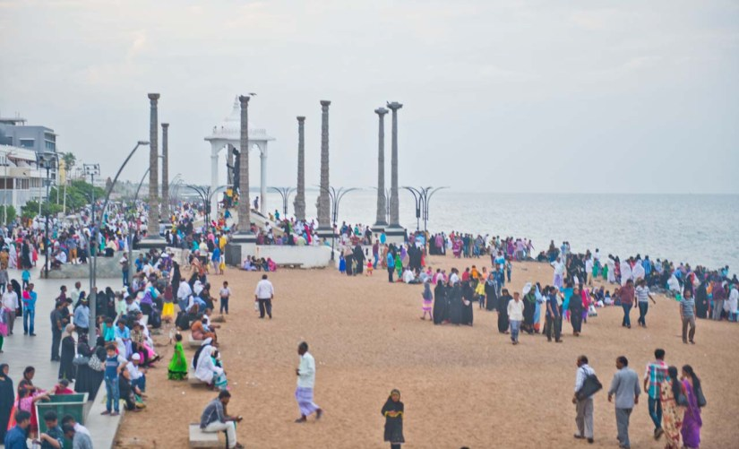 Pondicherry crowds over the weekend