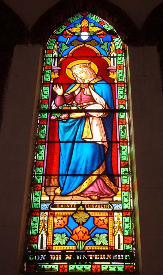 Window of Basilica of the Sacred Heart of Jesus Pondicherry