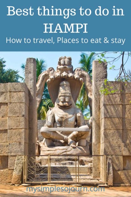 Best things to do in Hampi, Places to eat & stay #incredibleindia #hampi #UNESCO #Heritagesite #travel #travelguide