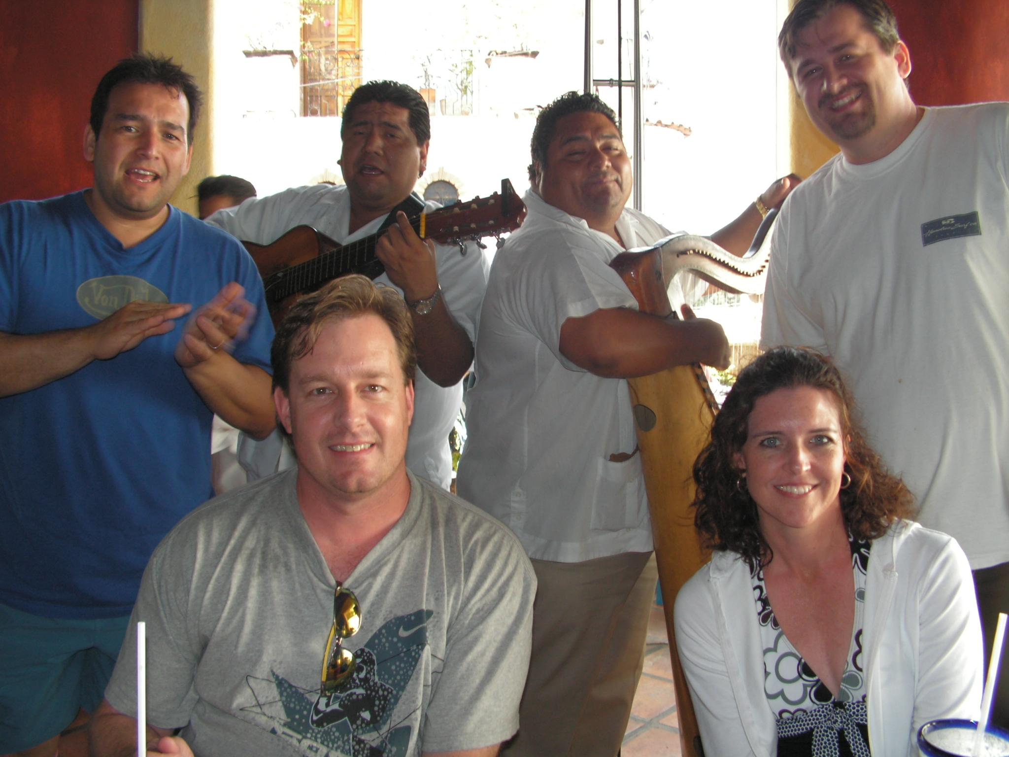 Rick and the mariachi band in puertovallarta