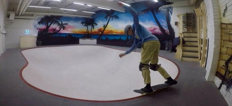 Varbergs skatehall bowl