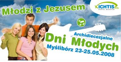 Archidiecezjalne Dni Młodych 2008 - plakat