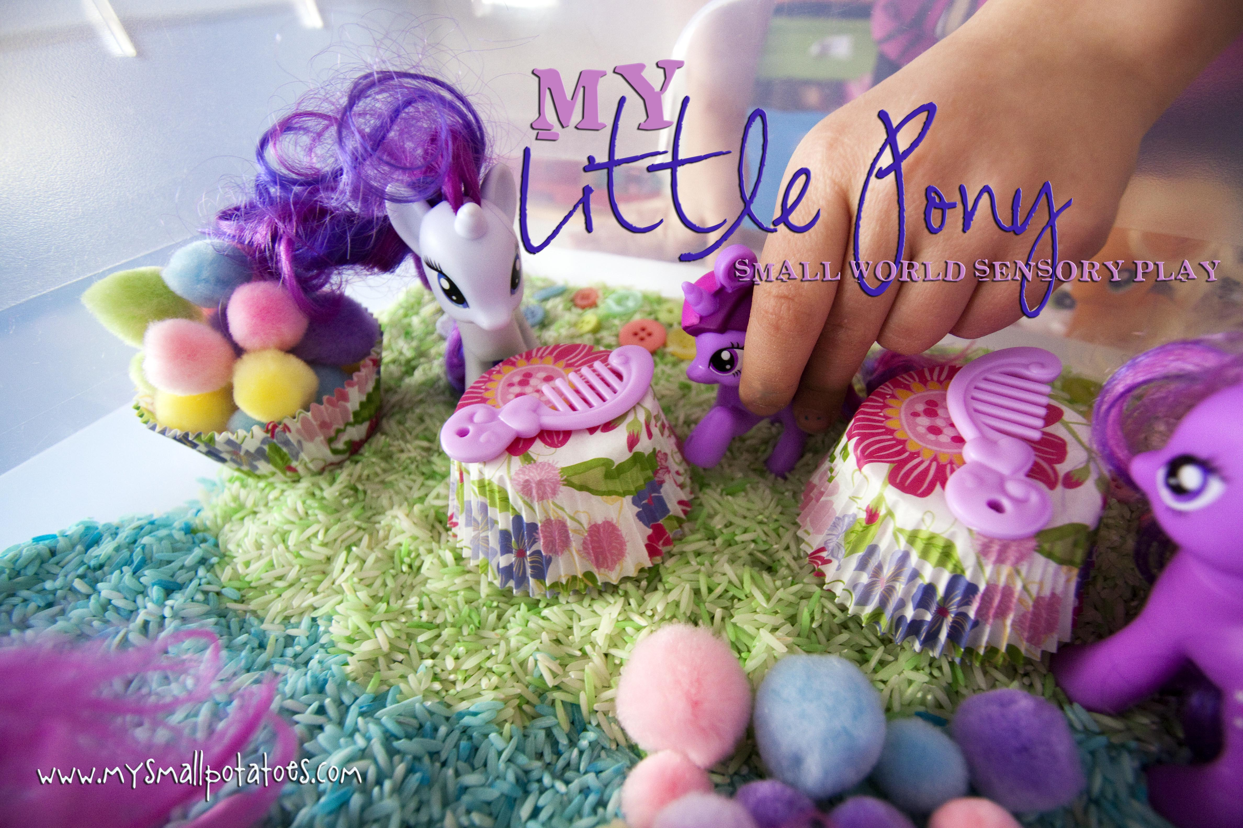 My Little Pony Small World Sensory Play