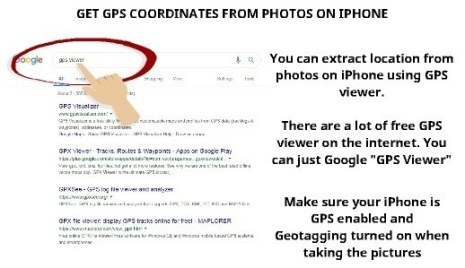 Get GPS coordinates from photo