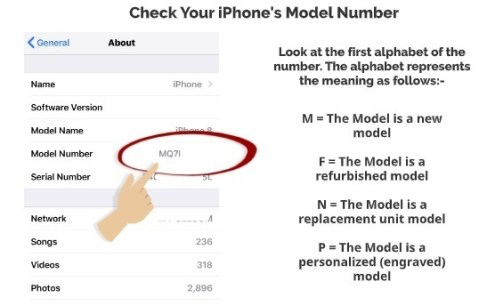 Check your iPhone Model Number