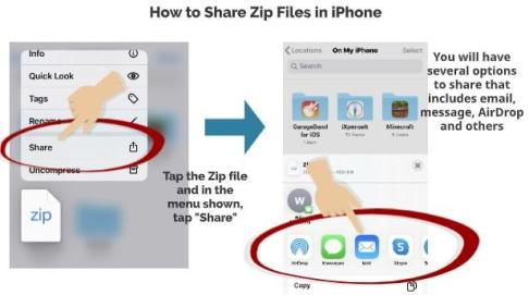 How to Share Zip Files in iPhone