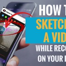 How to Sketch On a Video While Recording on Your iPhone