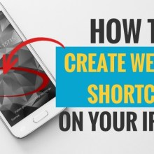 How to Create Website Shortcut on Your iPhone