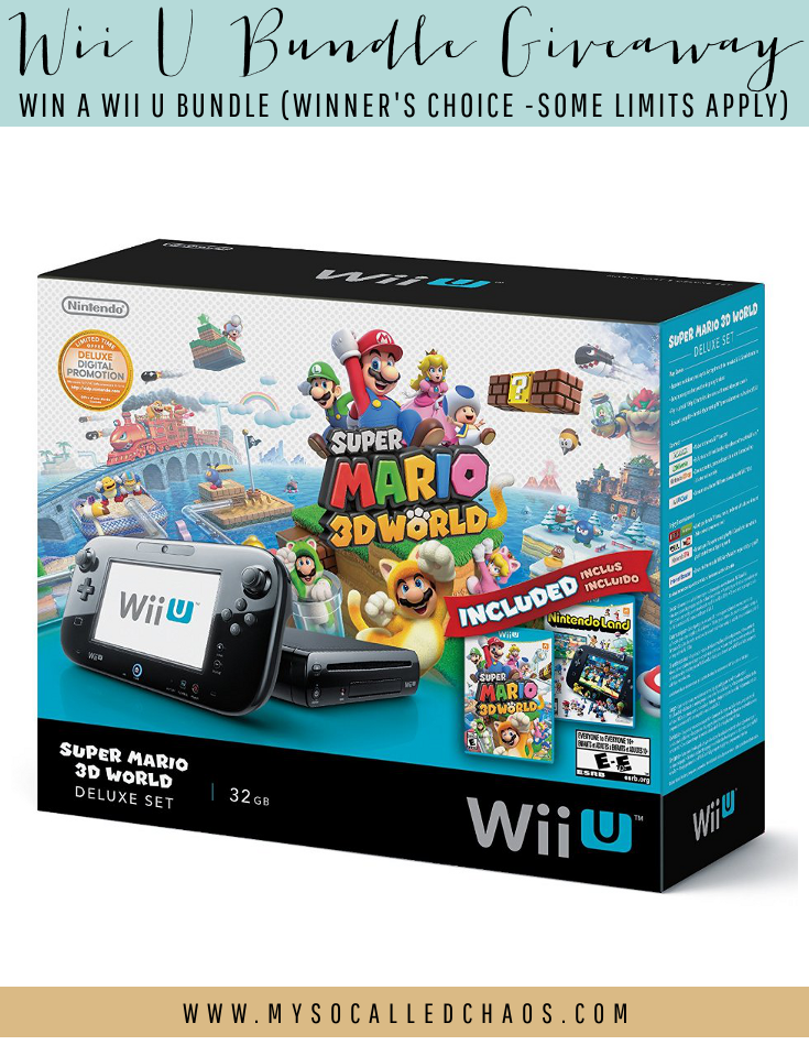 Enter to win a Wii U Bundle!