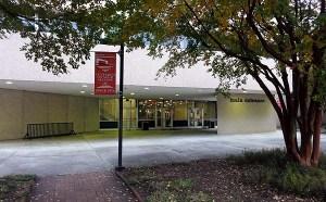 Main entrance to the McKimmon Center, Gorman Street, Raleigh, NC