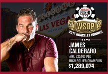 James Calderaro Wins 2017 World Series of Poker $25,000 Pot-Limit Omaha Championship