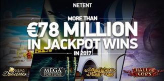 More than €78 million in jackpots paid out in 2017 via NetEnt