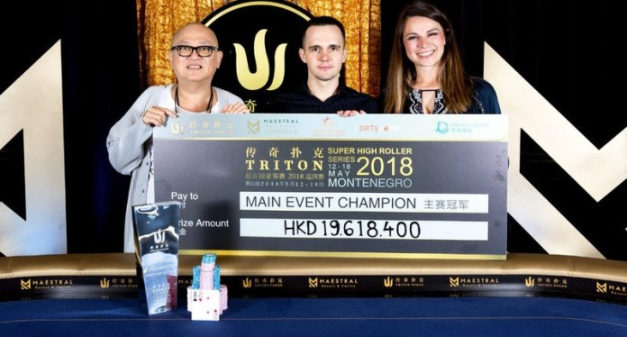 Mikita Badziakouski Wins 2018 Triton Super High Roller Series Montenegro $1 Million HKD Buy-In