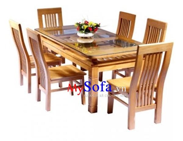 Bộ bàn ghế gỗ cho phòng ăn gia đình AmiA BA014