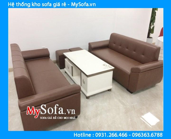 Bộ ghế sofa chung cư kiểu 2 ghế văng dài