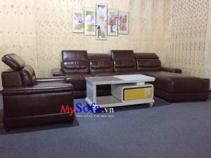 Bộ ghế Sofa da hiện đại, sang trọng AmiA SFD186