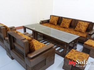 Bộ Sofa gỗ đẹp và sang trọng AmiA SFG018