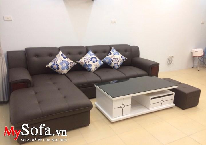 Hình ảnh bộ ghế Sofa da đẹp AmiA SFD157